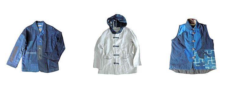 hodocc2014 古布、藍染、半襟ジャケット
